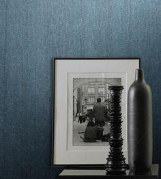 Gonda Blau - chice Vliestapete in wellenähnlichem Design und brillianter Farbe und matter Optik