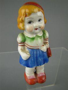 Occupied Japan Girl w Hat Purse Porcelain Figurine | eBay
