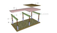 Large pergola plans | HowToSpecialist - How to Build, Step by Step DIY Plans