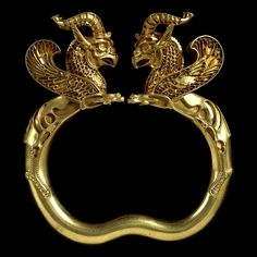 Achaemenid gold griffin headed armlet from the Oxus treasure found in Takht-i-Kuwad, Tajikistan c. 4th-5th c. B.C.