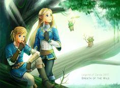The Legend of Zelda   Breath of the Wild   Link and Zelda  「ゼルダlog3」/「病雀」のイラスト [pixiv]