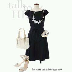 #dress #necklace #bag #sandals #black #bracelet #coordinate #tgc #rtw #pfw16 #tokyo #iQON #pintarest #mao_pak #o_range o(^-^o)(o^-^)o