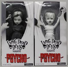 Soon-to-be-released 'Psycho' themed dollies from Living Dead Dolls.  https://www.facebook.com/LivingDeadDolls