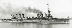 Vintage photographs of battleships, battlecruisers and cruisers.: French armoured cruiser Edgar Quinet in 1907.