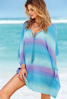 Swimsuit Cover Ups - Beach Dresses, Rompers & More - Victoria's Secret Sexy Summer Dresses, Beach Dresses, Summer Outfits, Pyjamas, Only Fashion, Womens Fashion, The Last Summer, Swimsuit Cover Ups, Victoria Secrets