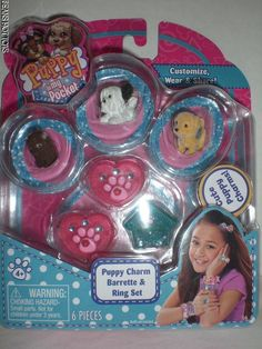 Puppy in My Pocket 3 Charm Puppies With Bracelet - Pink Model 21449235 for sale online Tiny Puppies, Cute Puppies, Barbie Doll House, Barbie Dolls, 90s Toys, Pocket Edition, Toy 2, Rilakkuma, Toy Boxes