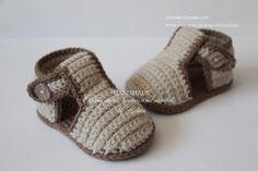 Crochet bebé sandalias sandalias de gladiador zapatillas