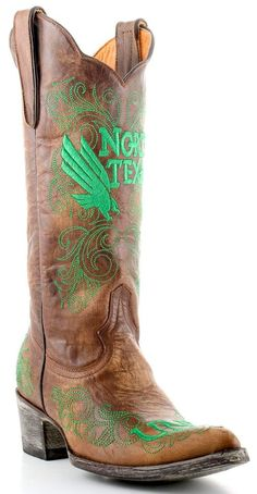 The University Of North Texas boots from Gameday Boots are the perfect footwear for a Mean Green tailgater, game or party. Step out in these ladies UNT boots and show your pride in the Mean Green! Texas Cowboy Boots, Cowboy Boots Women, Cowgirl Boots, University Of North Texas, Mean Green, Mid Calf Boots, Leather Boots, Shoe Boots, My Style