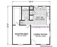 Small house floor plan- square footprint lends itself to mini-villa design.