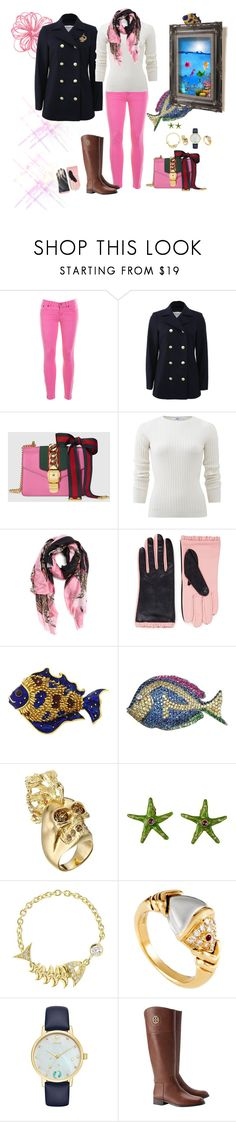 """""""A day at the Aquarium"""" by deborah-518 ❤ liked on Polyvore featuring J.Crew, Frame, Gucci, Allude, Dolce&Gabbana, Aristide, Tiffany & Co., Alexander McQueen, Gerard Yosca and Stephen Webster"""