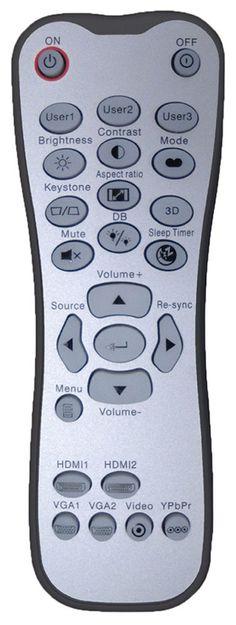 Optoma HD37 DLP 3D Projector - Remote