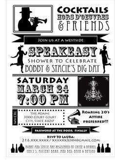 Speakeasy party invitation