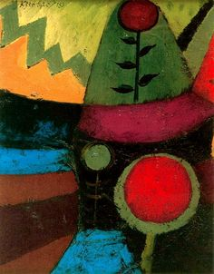 """reblololo: """" yama-bato: """" crashinglybeautiful: """" Paul Klee, """"Three Flowers,"""" 1920 Oil on priming on cardboard, oil on whole reverse surface x 15 cm """" """" Wassily Kandinsky, Paul Klee Art, Illustration Art, Illustrations, Georges Braque, Art Abstrait, Pablo Picasso, Famous Artists, Oeuvre D'art"""