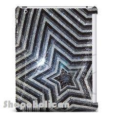 Grey star design Design Swarovski IPAD hard Case by Blythaholic, $229.00