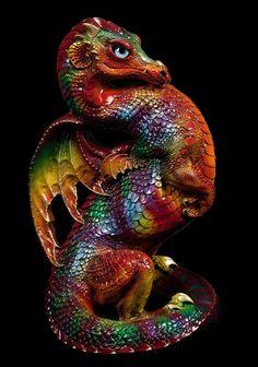 "Windstone ""Panther Chameleon 1"" Emperor Dragon Figurine Fantasy Statue | eBay"