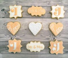 Mr & Mrs Floral engagement cookies