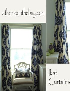 Ikat Curtains - At Home on the Bay