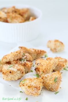 Panko baked chicken nuggets | Eat Good 4 Life These are super easy and tastier than store bought. No egg mixture or wash needed for this recipe.