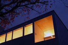 設計事務所アーキプレイス 桜並木と暮らす家 夜景見上げ
