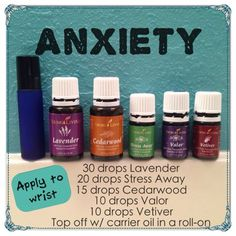Young living oil roll-on for anxiety, fear, calming, and focus.