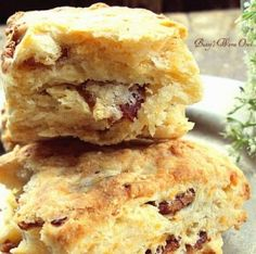 Cheddar Bacon Biscuits - YUM