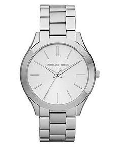 Michael Kors Watch, Women's Slim Runway Stainless Steel Bracelet 42mm MK3178 - Watches - Jewelry & Watches - Macy's