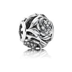 Pandora Charm Mystisches Blumenreich Pavé 791419CZ Sterling Silber Zirkonia