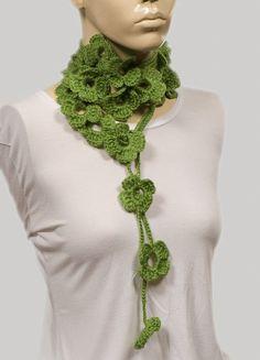 Shamrock scarfCrochet Holiday SCarf by crochetgiftstore on Etsy, $19.00