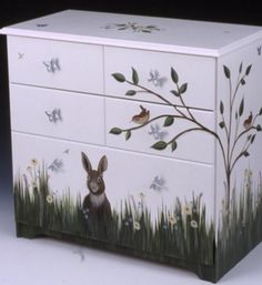 The bunny dresser is perfect for babies room