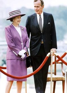 Queen Elizabeth II on Tour Spam Non Commonwealth 1991 - United States of America