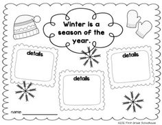 Story Structure graphic organizer included in Winter