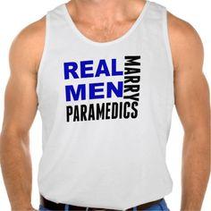 Real Men Marry Paramedics Tank Tank Tops
