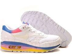 detailed pictures 676b9 1ff76 Mens Nike Air Max 1 Premium Kakigoori Pack White White Argon Blue Flamingo Shoes  Nike Shox