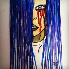 """""""Dripping Pain """" by Julianna Hunter  Watercolor and ink #art"""