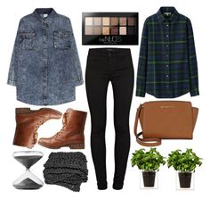 """Untitled #4870"" by prettyorchid22 ❤ liked on Polyvore featuring J Brand, Bamboo, Uniqlo, Michael Kors, Maybelline, Boskke, Timing, women's clothing, women's fashion and women"