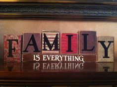 FAMILY+IS+EVERYTHING+Wood+Blocks+/+Wood+Sign+/+by+WoodnExpressions,+$27.00