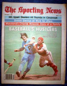 PETE ROSE 1980 PHILADELPHIA PHILLIES SPORTING NEWS Phillies Baseball, Baseball Cards, Baseball Movies, Pete Rose, Sports Magazine, Philadelphia Phillies, Cincinnati Reds, Sports News, Hustle