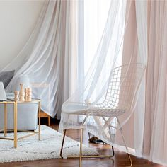 Pack of 2-Layer Tulle Sheer Lace and Blackout Curtain Panel White Double Pleat Drapes for Living Room, Beige, 80 by 95 Inches, 2 Piece Hanging Curtains, Drapes Curtains, Bedroom Curtains, Living Room Drapes, Beige Living Rooms, Country Bedroom Design, White Sheer Curtains, White Paneling