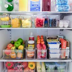 The Home Edit Healthy Fridge & The Container Store Refrigerator Organization, Best Refrigerator, Kitchen Organization Pantry, Home Organisation, Kitchen Pantry, Diy Kitchen, Kitchen Hacks, Refrigerator Makeover, Kitchen Cabinets