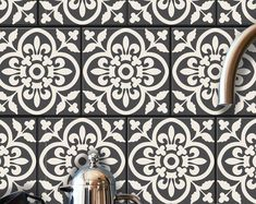 Encaustic Moroccan Tile Wall Stair Floor Self Adhesive Vinyl Stickers,Kitchen Bathroom Backsplash Carrelage Decal, Peel & Stick Home Decor Tile Decals, Wall Tiles, Vinyl Decals, Flooring For Stairs, Peel And Stick Vinyl, Stick On Tiles, Floor Finishes, Adhesive Vinyl, Backsplash