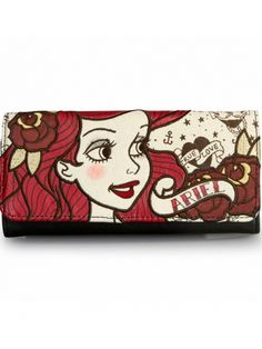 """Ariel True Love"" Wallet by Loungefly (Biege/Red/Brown) #inkedshop #ariel #littlemermaid #wallet #disney"