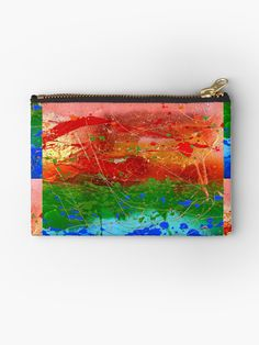 'Rainbow Abstract' Zipper Pouch by JuliaFineArt Framed Prints, Canvas Prints, Art Prints, Zipper Pouch, Floor Pillows, Art Boards, Duvet Covers, Clock, Rainbow