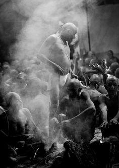 Ceremony During The Maha Kumbh Mela, Allahabad, India by Eric Lafforgue, via Flickr