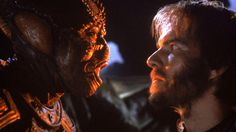 """Enemigo Mío"" (""Enemy Mine"", 1985). Dir. Wolfgang Petersen. Stars:  Dennis Quaid, Louis Gossett Jr.."