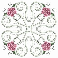 Pearl Roses Quilt Set, 12 Designs - 3 Sizes! | Quilt | Machine Embroidery Designs | SWAKembroidery.com