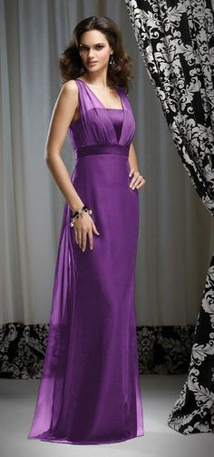 Purple tube long gown