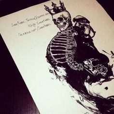 Modern Grim Reaper Design Sara.fabel.tattoo@gmail.com