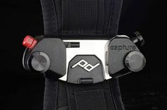 Capture Camera Clip v2 mounts your camera externally to any backpack strap or belt, then releasing at the twist and click of a button when needed; the two-step process prevents accidental drops. #camera #dslr ($50+)