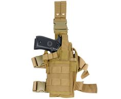 Introducing the Lancer Tactical Tan Airsoft Pistol Drop Leg Holster! This high quality and very cleverly designed leg holster is loaded with great features.