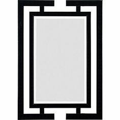 Kenroy Home Shinto Wall Mirror, Gloss Black Finish